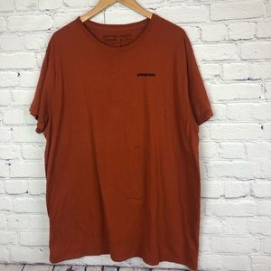 Patagonia Tee Shirt Orange Outdoor Men's Size XXL